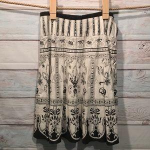 Forbidden black and white skirt.
